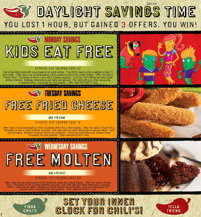 free coupons by mail. And on Wednesday, get a free