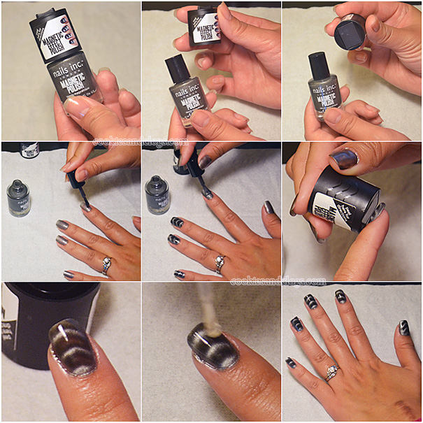 Step by Step Photo Tutorial of How to Apply Magnetic Nail Polish