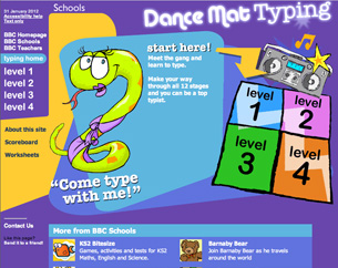 Dance Mat Typing from BBC
