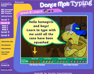 Dance Mat Typing level for all kids type 1 2 3 4 game ...