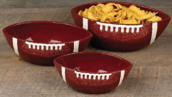 Touchdown Superbowl Football serving bowls