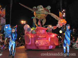 Pixar Parade in Disney California Adventure Park near Disneyland