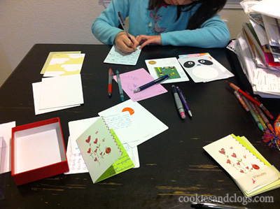 Teach your children to send thank you notes cards