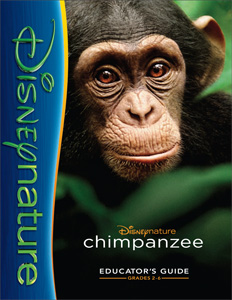 Disney's DisneyNature Chimpanzee Teacher homeschool Parent Educator's Guide
