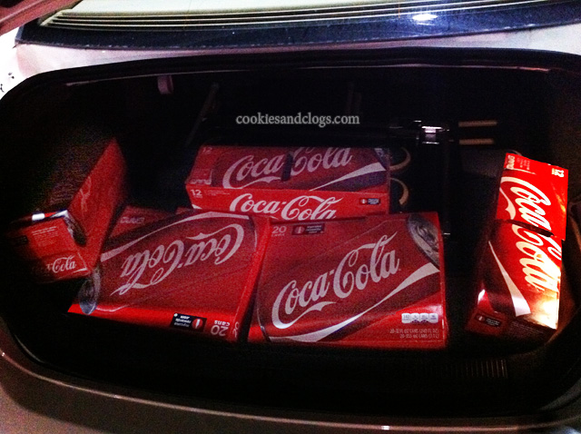 Coca-cola Coke Stock Up in Trunk