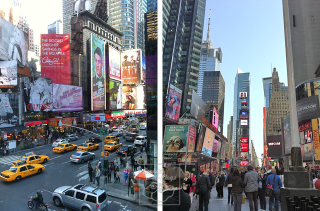 Times Square in Manhattan New York with kids