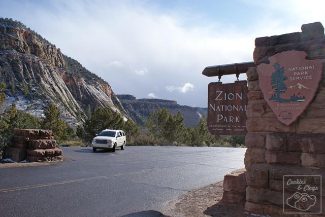 Zion National Park entrance in Utah