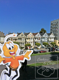 Buzz Honey Nut Cheerios Bee Tour America San Francisco California Painted Ladies Victorian Houses