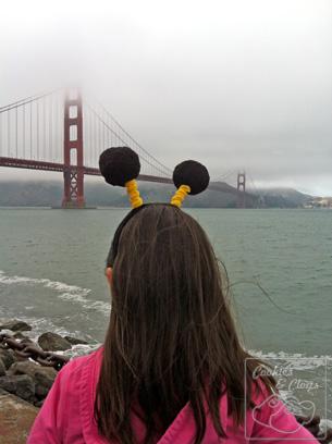 Buzz Honey Nut Cheerios Bee Tour America San Francisco California Golden Gate Bridge Bee Antennae