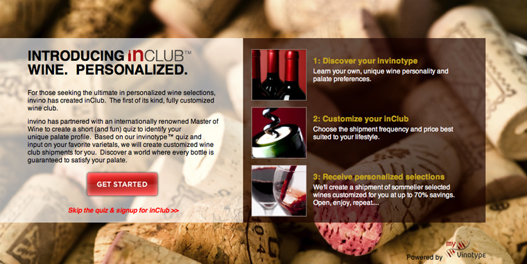 inClub by invino personalized wine club