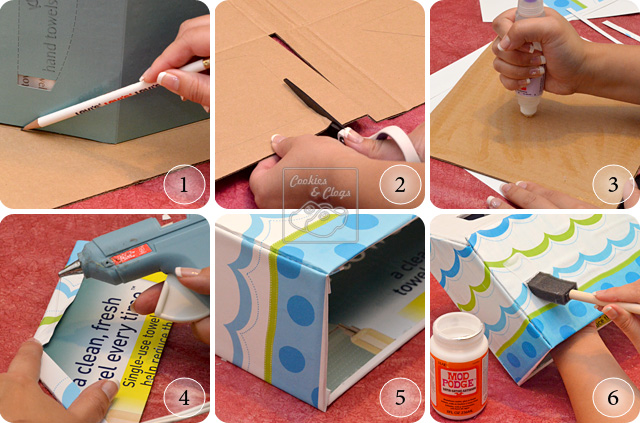 DIY Kleenex Hand Towel Decorative Box Holder Cover Tutorial. DIY Tutorial to Make A Custom Cover For Bathroom Tissue   Towel Holder