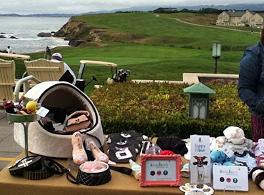 Yappy hour dog pup ritz carlton half moon bay beach coast