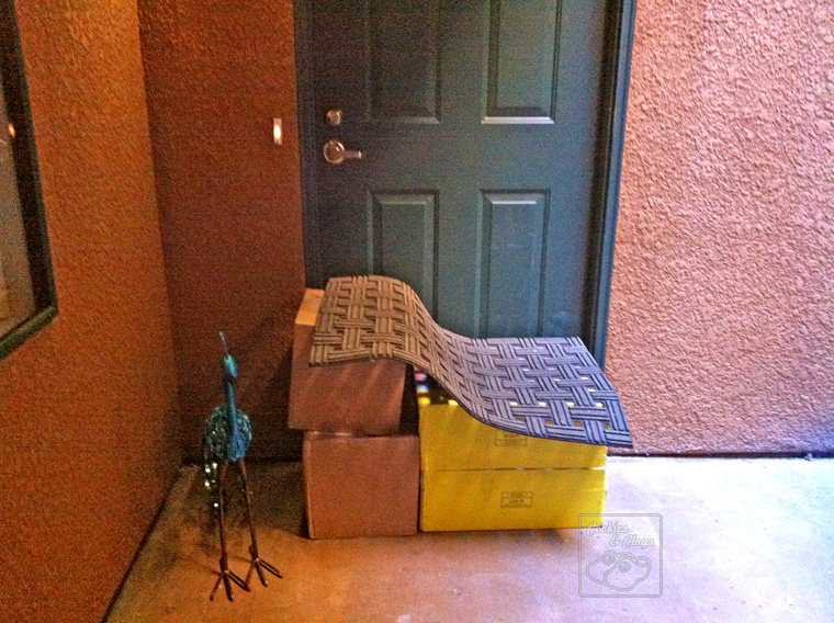 UPS hide packages doormat house door leave