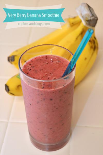 Very Berry Banana Smoothie Recipe - Similar to Jamba Juice Razzmatazz