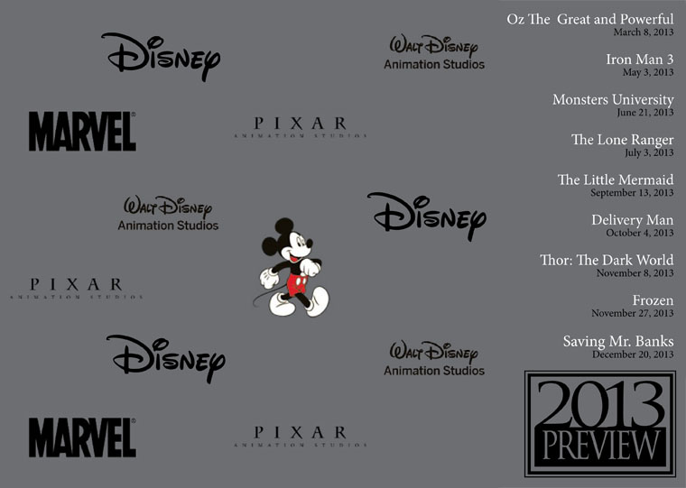 Disney Pixar Marvel Movie Releases 2013 Preview