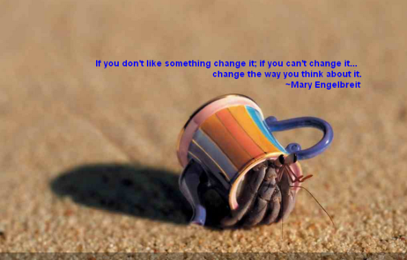 Quote About Change The Way You Think About It Hermit Crab