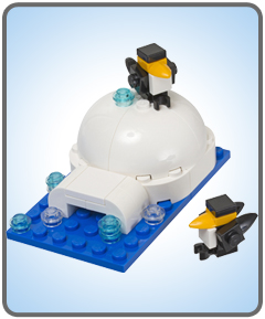 Mini Lego Igloo with Penguins Model Kit at Store in January 2013
