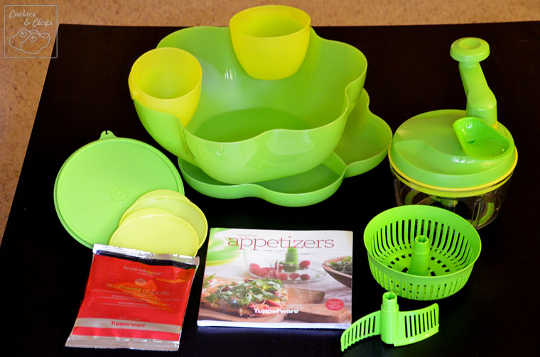 Perfect 2013 Super bowl Party with Tupperware Salsa Complete Set