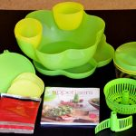 Tupperware Complete Salsa Set with bowl dip chopper appetizer book