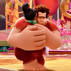 Wreck-It Ralph Hug w/ Vanellope von Schweetz from Sugar Rush