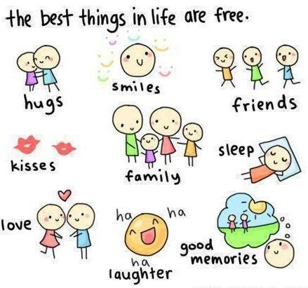 Cute Life Quote About Happiness   The Best Things In Life Are Free