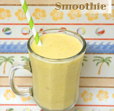 Tropical Coconut Smoothie Recipe with Frozen Bananas & Pineapple