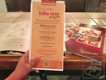 Olive Garden Buy One Take One Home Free Promotion Dinner
