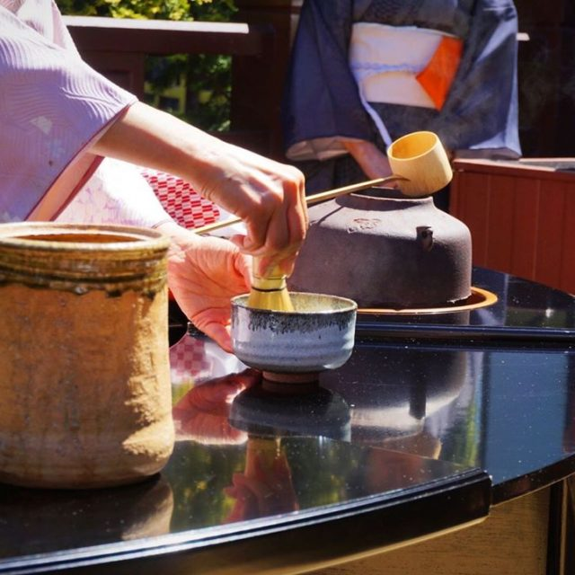 Traditional Japanese tea ceremony at the gardens MazdaAtJPOP DrivingMatters AD