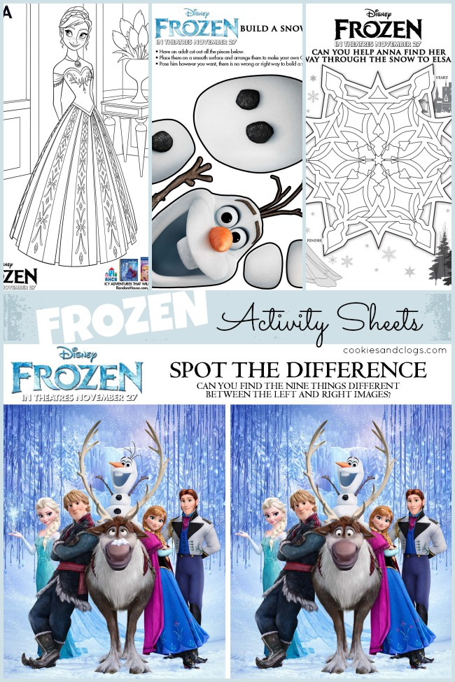 Disney movie fun printable frozen activity sheets for Coloring pages for frozen characters