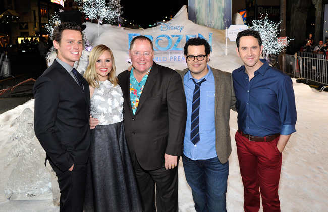 Snow in Hollywood at the Frozen World Premiere # ...Kristen Bell And Jonathan Groff