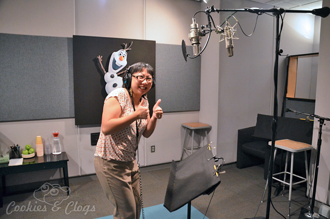 Disney's Animated Movie Frozen Voice Over Recording Booth - Month of November #DisneyFrozenEvent