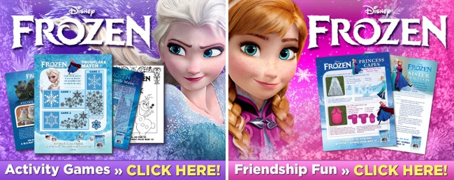 Disney Frozen Movie printable activity sheets with coloring pages and Olaf fun #FrozenMovie