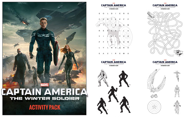 Captain America The Winter Soldier Review  Printable Activity Sheets