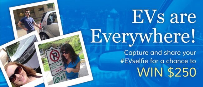 The Electric Generation #EVSelfie giveaway for 4 x $250 Amex GC - Awareness for Electric Vehicles / EV #Giveaway