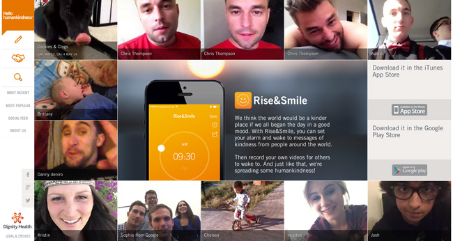 Rise&Smile app from Dignity Health #humankindness