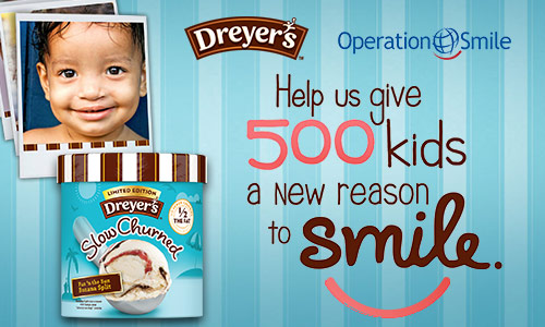 """Dreyer's """"A Reason to Smile"""" campaign for Operation Smile #ReasontoSmile #ad"""