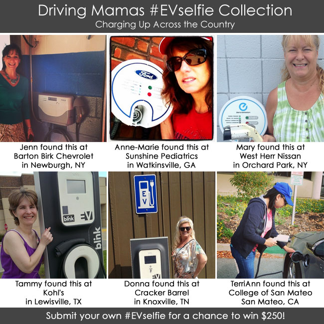 Driving Mamas #EVselfie Giveaway Photo Collection from across the country.