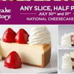 National Cheesecake Day Deals at The Cheesecake Factory