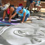 Palo Alto Festival of the Arts + Sidewalk Chalk Art + Easy DIY Decoupage Ideas: mounting photo on wood #diy #crafts #morenorcal #vzwbuzz
