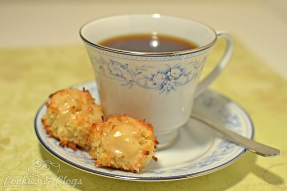 Cookies & Clogs | Food | Gluten-Free Coffee-Glazed Coconut Macaroon Recipe for International Coffee Day #Recipes #CoffeeDay