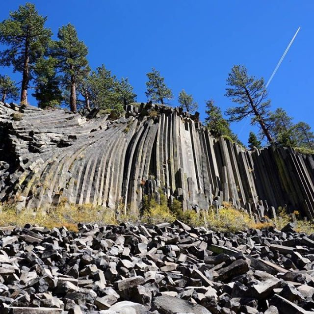 We made it to the Devils Postpile National Monument Thesehellip