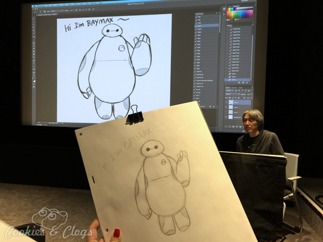Big Hero 6 Press Day at the Disney Animation Building – Drawing Demonstration with Jin Kim
