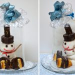 DIY Ice Skating Snowman Winter Centerpiece + Win $100! #HostessHoliday