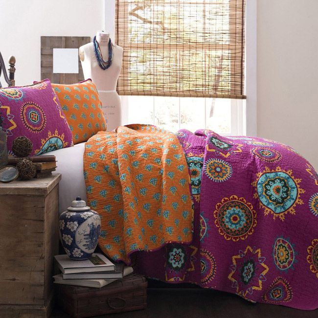 Lush Decor Affordable Bedding & Curtains – Adrianne 3 piece Quilt