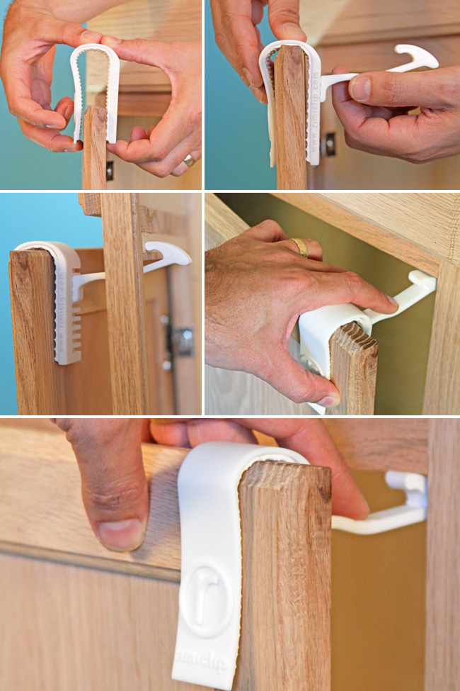 baby proofing cabinets rimiclip a new of painless child safety latch 10876