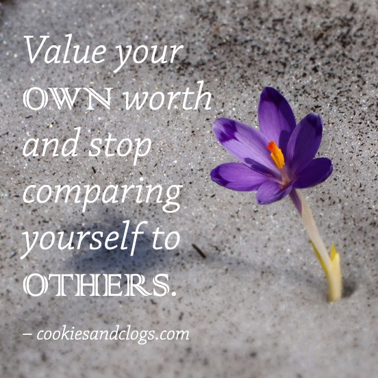Quotes About Life   Positive And Motivational Quote To Value Your Self And  To Stop Comparing