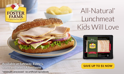 Food | Foster Farms All Natural Lunchmeat is tasty, gluten free, and has 35% less sodium for those tasty lunches or my daughter's Munchkin's Masterpiece Turkey Sandwich Recipe.