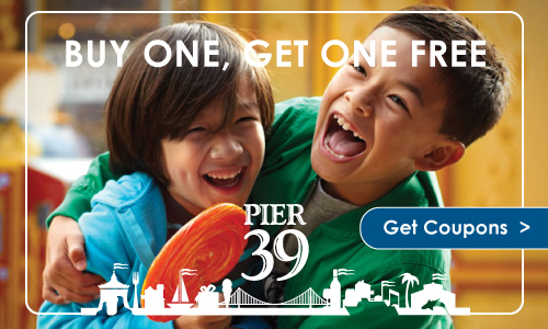 Travel | Spend a whole day at PIER 39 in San Francisco with these buy one get one free (BOGO) Local Advantage coupons. See how my family enjoyed the RocketBoat, sea lions, Aquarium by the Bay, and more.