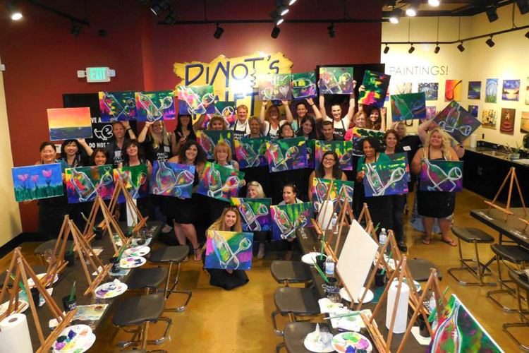 pinot 39 s palette paint and wine studio in alameda ca