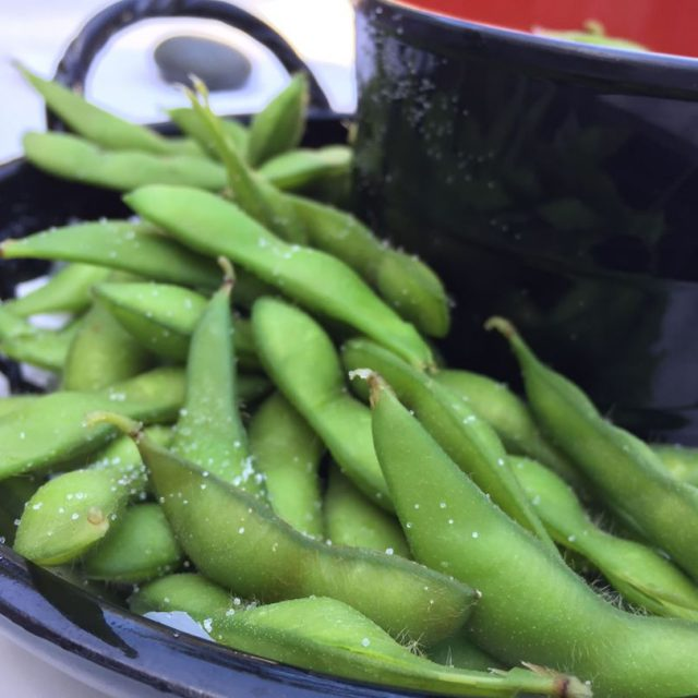 Nothing like snacking on edamame amp other yummies at thehellip